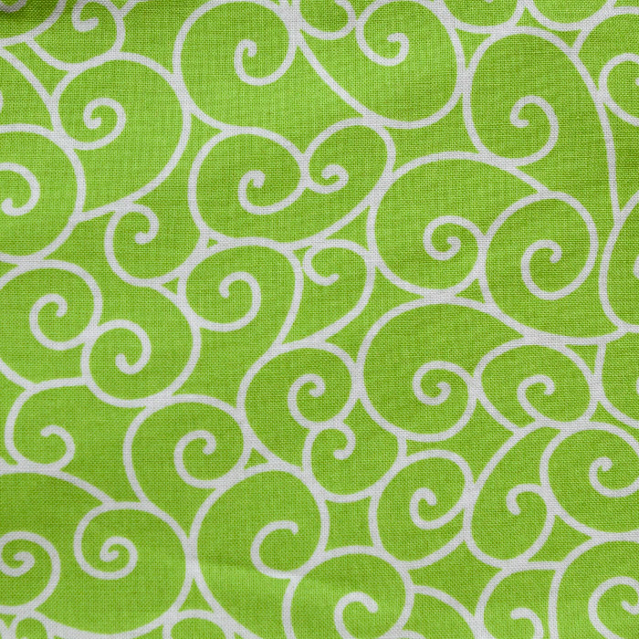 Lime Swirl print scrubs fabric for the operating room hat
