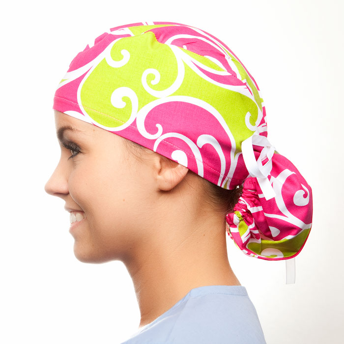 Love Lodge pony tail surgical surgical ponytail hat for women