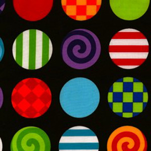 Circus Pattern Poppy Scrub Bouffant Hat