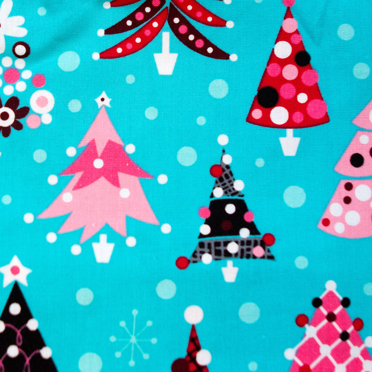 Bedezzled Christmas pixie scrubs fabric for the operating room hat