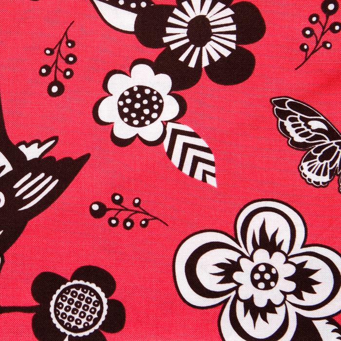 Palmilla Pattern Poppy Scrub Bouffant Hat