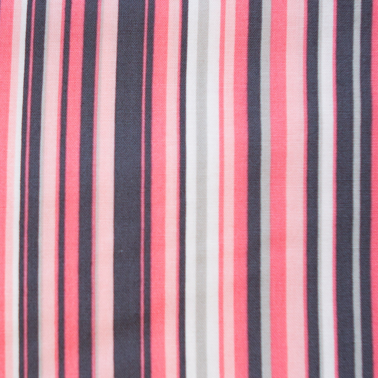 Coral Pinstripes print