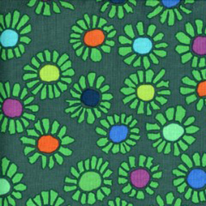Fitzgerald Floral Pattern Poppy Scrub Bouffant Hat