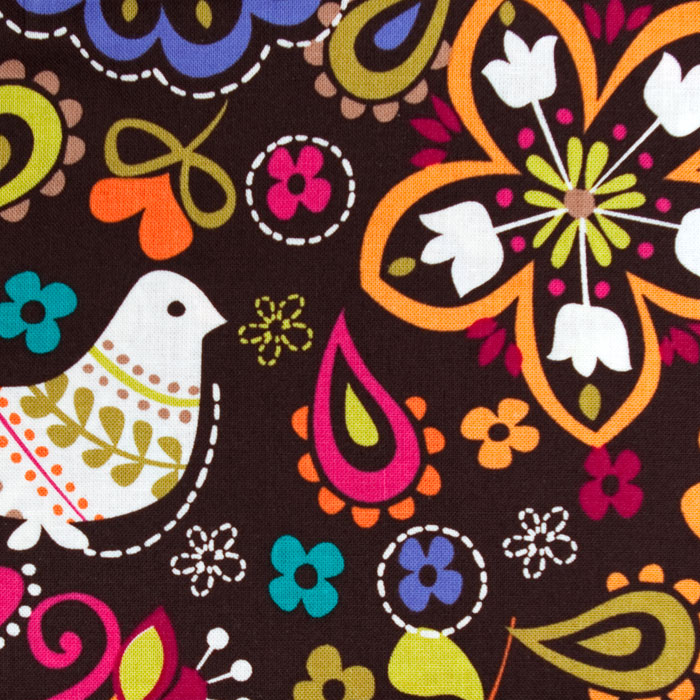 Dove of Peace Pattern Poppy Scrub Bouffant Hat
