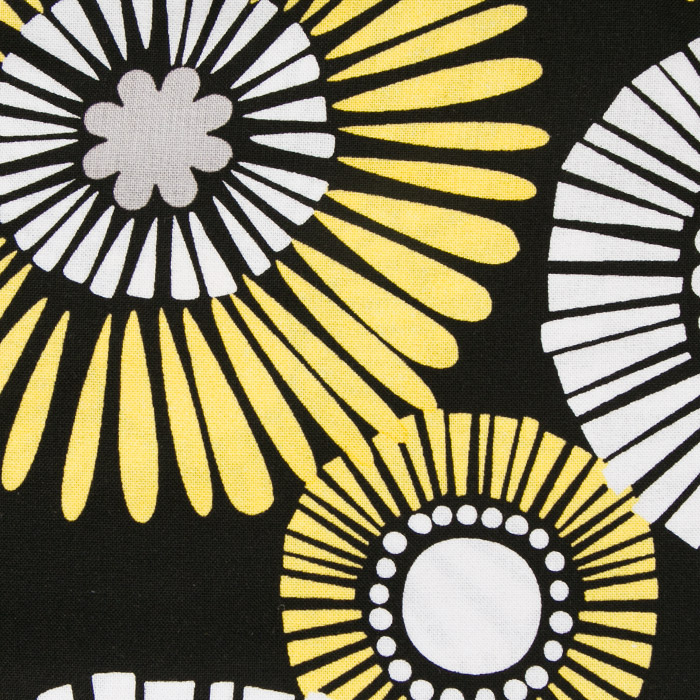 Sunflower Fields print scrubs fabric for the operating room hat