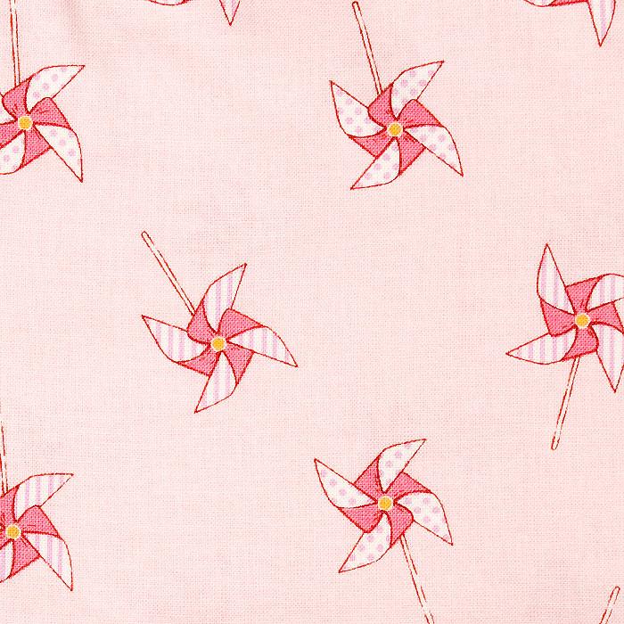 Pinwheel Parade Pattern Poppy Scrub Bouffant Hat
