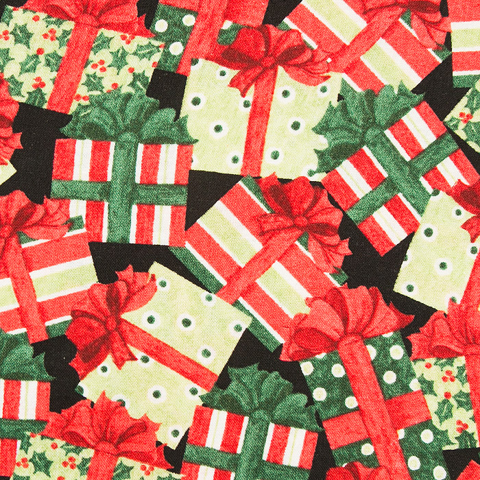 Christmas Morning print scrubs fabric for the operating room hat