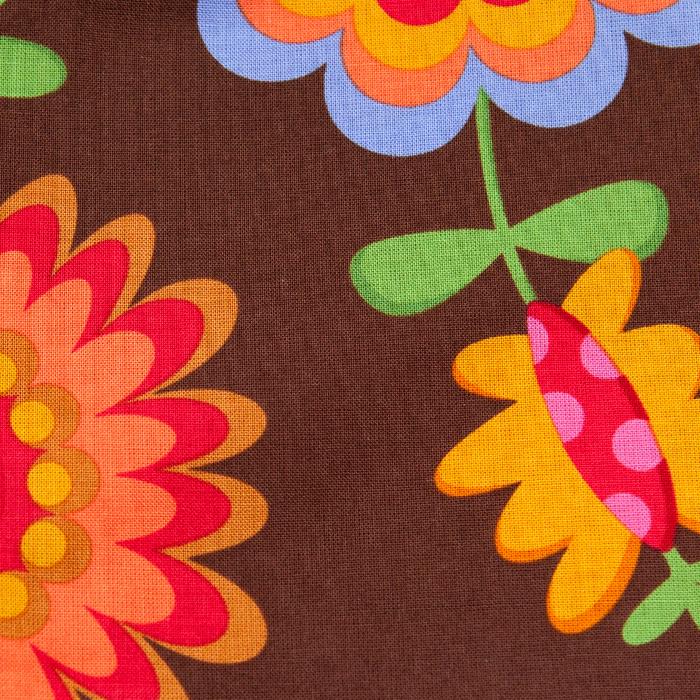 Cornucopia Pattern Poppy Scrub Bouffant Hat
