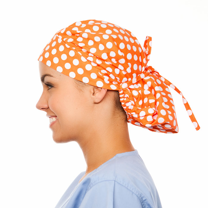 Boutique Pattern Poppy Scrub Bouffant Hat