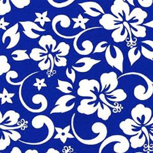 Blue Lagoon Pattern Poppy Scrub Bouffant Hat