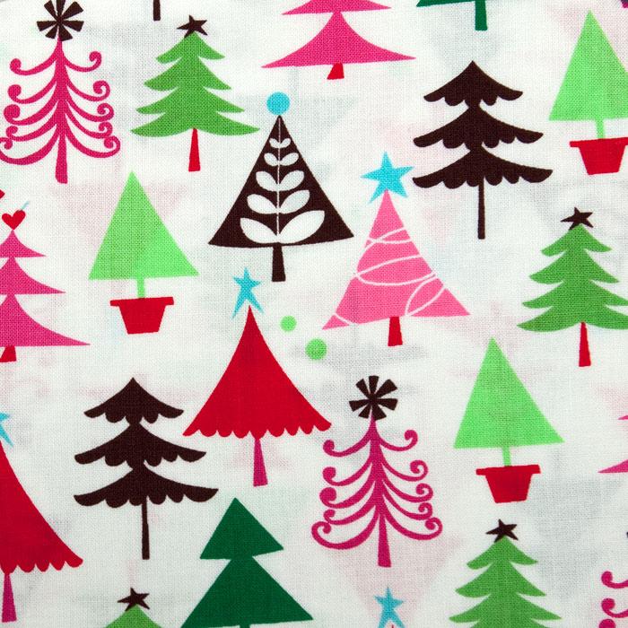 O Christmas Tree Pattern Poppy Scrub Bouffant Hat