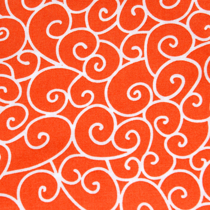 Orange Cream print scrubs fabric for the operating room hat