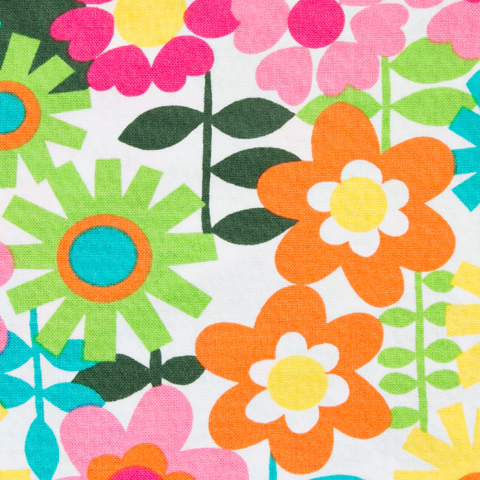 Daisy May print scrubs fabric for the operating room hat