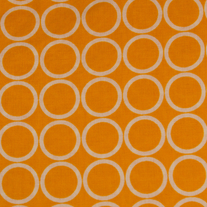 Sunrise Circle print scrubs fabric for the operating room hat