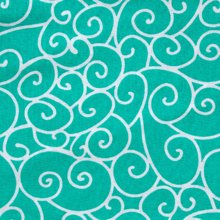 Mint Delight print scrubs fabric for the operating room hat