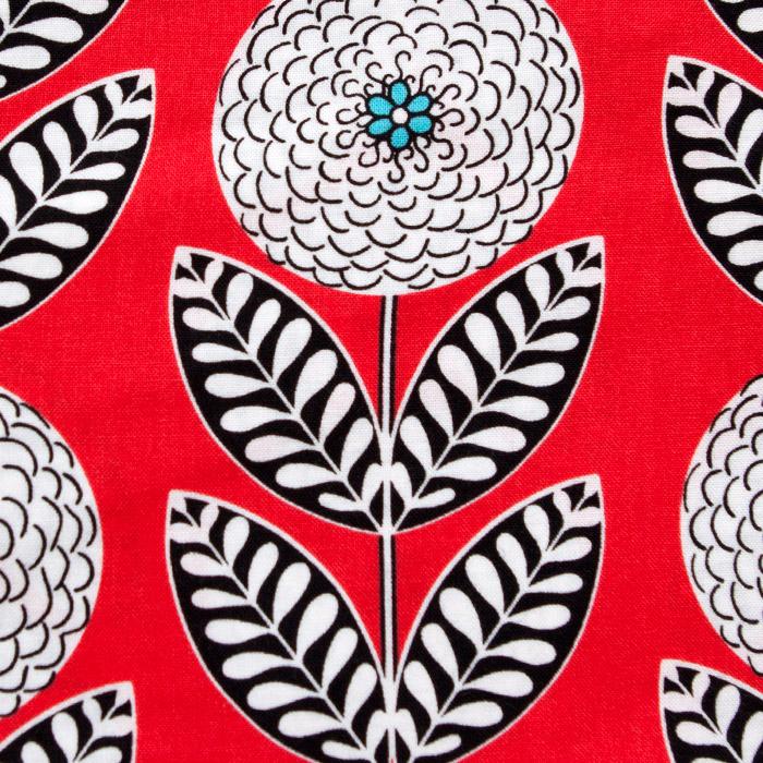 Akita Pattern Poppy Scrub Bouffant Hat