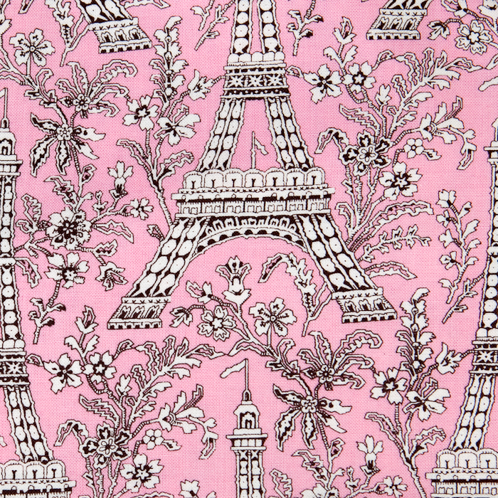 Chocolate in Paris print scrubs fabric for the operating room hat