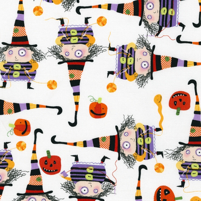 Hocus Pocus poppy scrubs fabric for the operating room hat