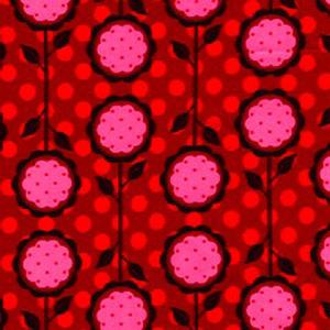 Dover Gardens Pattern Poppy Scrub Bouffant Hat
