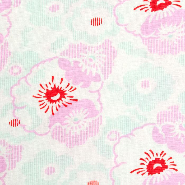 Brix Floral Pattern Poppy Scrub Bouffant Hat