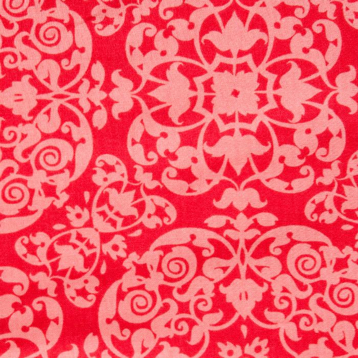 Tangerine Damask Pattern Poppy Scrub Bouffant Hat