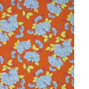 Maddox Floral Pattern Poppy Scrub Bouffant Hat