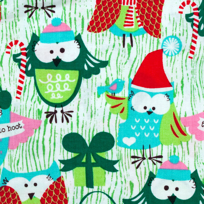 Tis the Season print scrubs fabric for the operating room hat