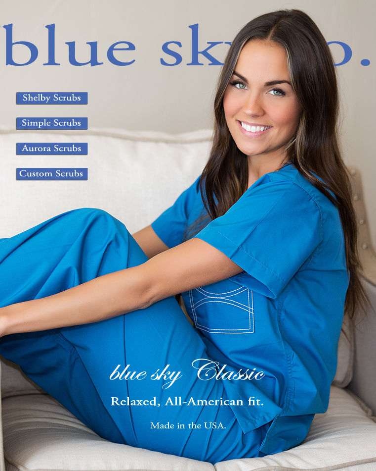 blue sky Classic Scrubs for Women