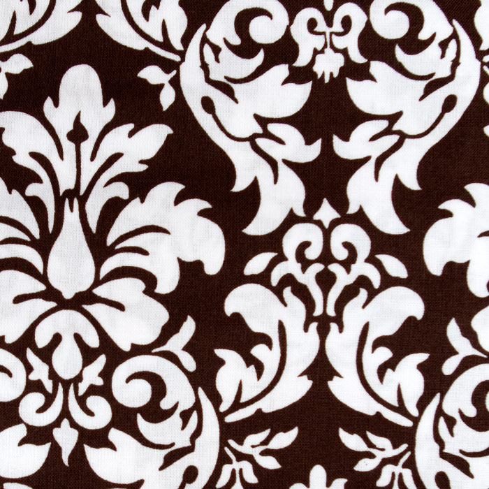 Espresso Damask print scrubs fabric for the operating room hat