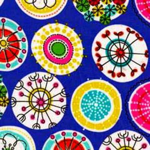 Charlotte Park Pattern Poppy Scrub Bouffant Hat