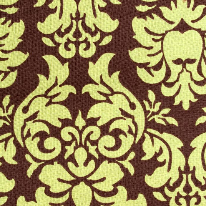 Pistachio Damask Pattern Poppy Scrub Bouffant Hat