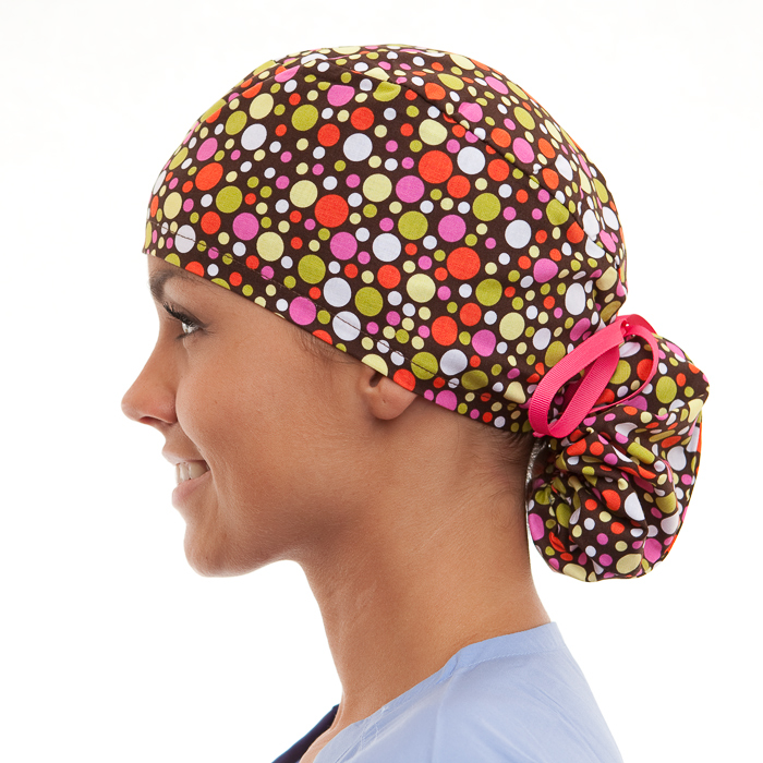 Spicy pony tail surgical surgical ponytail hat for women