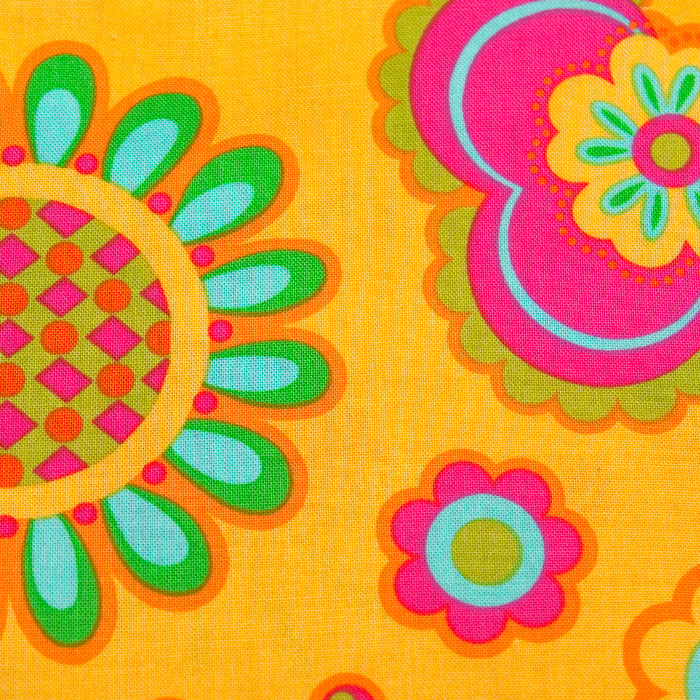 Sunny Vista print scrubs fabric for the operating room hat