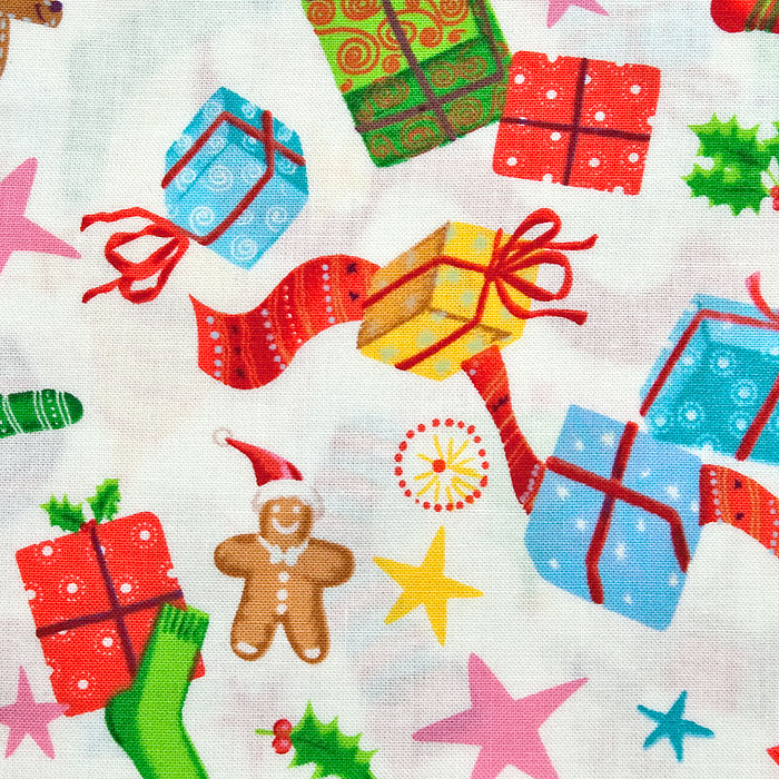 Jingle Jamboree print scrubs fabric for the operating room hat