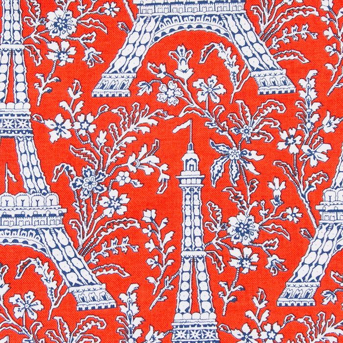 Le Madeleine print scrubs fabric for the operating room hat