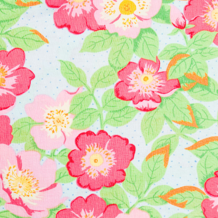 LaRue Floral Pattern Poppy Scrub Bouffant Hat