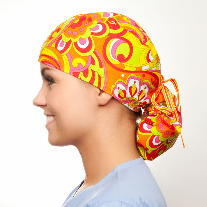 Cosmopolitan pony tail surgical surgical ponytail hat for women